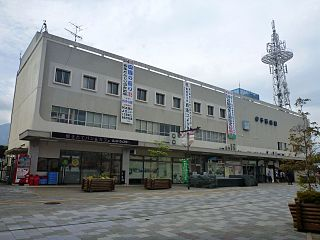 railway station in Saijo, Ehime prefecture, Japan