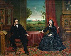 J Simpson - Portrait of John Henry Hakewill and his wife.jpg
