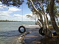 Jacksons Creek mouth from Cribb Island side. Shorncliffe headland in background. Australia - panoramio.jpg