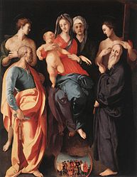 Pontormo: Madonna and Child with Saint Anna and Four Saints