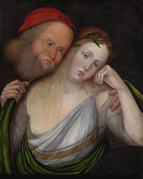 En gammal man och en ung kvinna - 1503