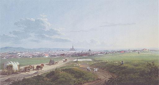 Jakob Alt - Blick auf Wien von der Spinnerin am Kreuz