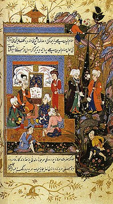 Jalal al-Din Rumi, Showing His Love for His Young Disciple Hussam al-Din Chelebi.jpg