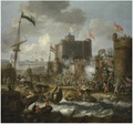 Jan Peeters (I) - Ottoman forces attacking an island fortress, possibly Grambusa, during the siege of Candia.pdf