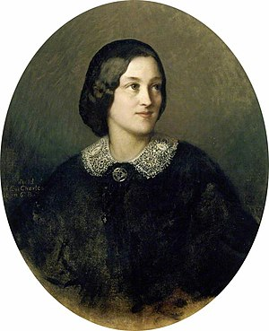 Jane Octavia Brookfield - Portrait of Brookfield in 1859 by Charles Albert Ludovici