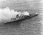 Japanese cruiser Mikuma burning and sinking on 6 June 1942 (80-G-457861).jpg