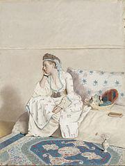 Portrait de Marie Fargues, femme de l'artiste