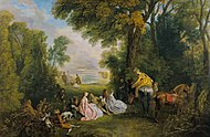 Jean-Antoine Watteau, The Halt during the Chase (c. 1718–1720).jpg