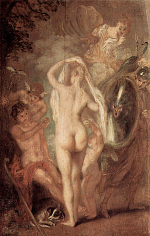 1720 in art - Image: Jean Antoine Watteau Le jugement de Pâris