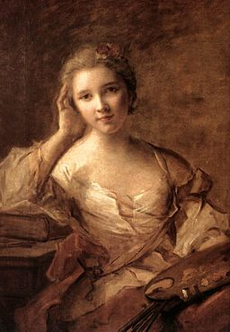 Jean-Marc Nattier - Portrait of a Young Woman Painter - WGA16461