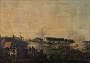 Battle of Zboriv (1649) - Painting of Jean-Pierre Norblin de La Gourdaine (1780s)