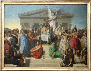 <i>The Apotheosis of Homer</i> (Ingres) Painting by Jean-Auguste-Dominique Ingres