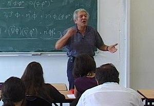 John Iliopoulos - John Iliopoulos at the École Normale Supérieure, Paris, 2009.