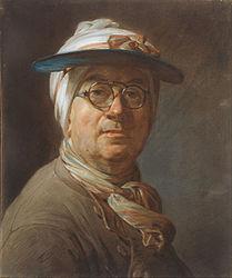 Jean-Baptiste-Siméon Chardin: Self-Portrait with a Visor