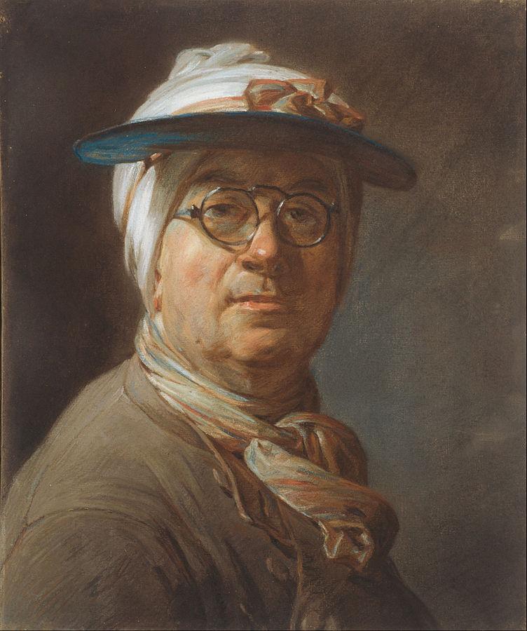 Autoportrait à l'abat-jour et aux lunettes