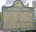 Jefferson Davis Memorial left marker, Irwin County, GA, US.jpg