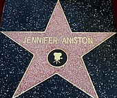 Aniston's star on the Hollywood Walk of Fame