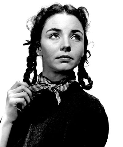 Jones as Bernadette Soubirous in The Song of Bernadette (1943) Jennifer Jones still, 'Song of Bernadette'.jpg