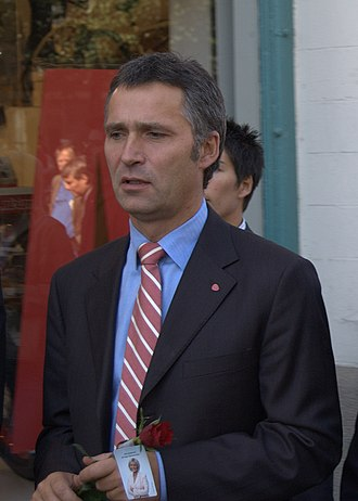 2005 Norwegian parliamentary election - Image: Jens stoltenberg norweigian pm 2005 sept 05 gothenburg