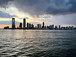 Jersey City skyline in June 2020