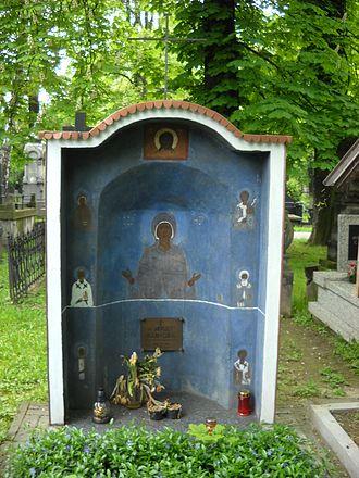 Orthodox Cemetery, Warsaw - Image: Jerzy Klinger grób cmentarz prawosławny na Woli