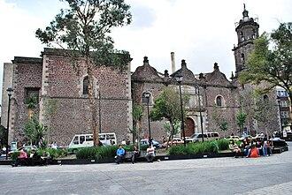 Hospital de Jesús Nazareno - Facade of Church of Jesus Nazareno.