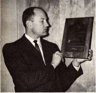 Jim Iverson - Iverson receiving a coaching award in 1963.