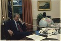 Jimmy Carter on the telephone in the Oval Office - NARA - 178947.tif