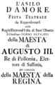 Johann Adolph Hasse - L'asilo d'Amore - italian titlepage of the libretto - Hubertusburg 1743.png