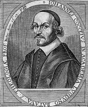 Johannes Cocceius - Woodcut of Johannes Cocceius