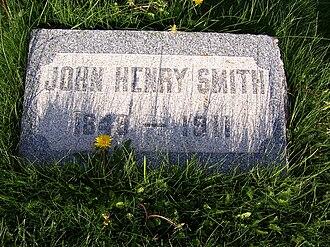 John Henry Smith - Image: John H Smith Grave
