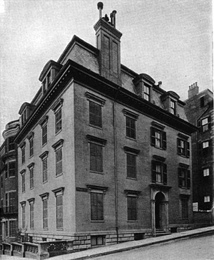 John Phillips (mayor) - Image: John Phillips house Beacon St Walnut St Boston
