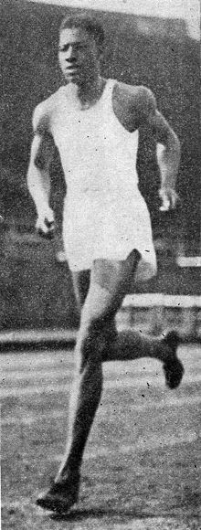 Olympic gold medal winner John Woodruff is part of Pitt's tradition in Track and Field JohnWoodruff Owl1937.jpg