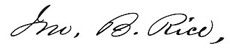 John B. Rice - Image: John B. Rice signature