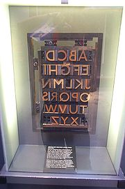 Johnston Sans printing blocks