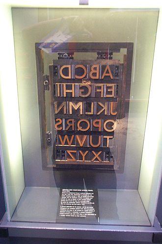 Johnston (typeface) - Johnston printing blocks.