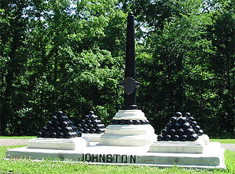 Albert Sidney Johnston - Monument to Johnston at Shiloh National Military Park