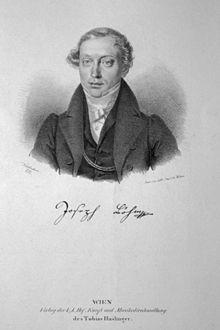 Joseph Böhm, Lithographie von Josef Kriehuber, 1830 (Quelle: Wikimedia)