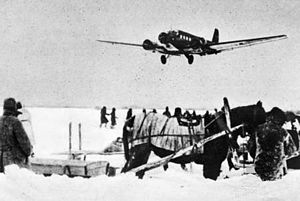 44th Infantry Division (Wehrmacht) - Ju 52 approaching Pitomnik Airfield in Stalingrad. The 44th Infantry Division defended the approaches in January 1943