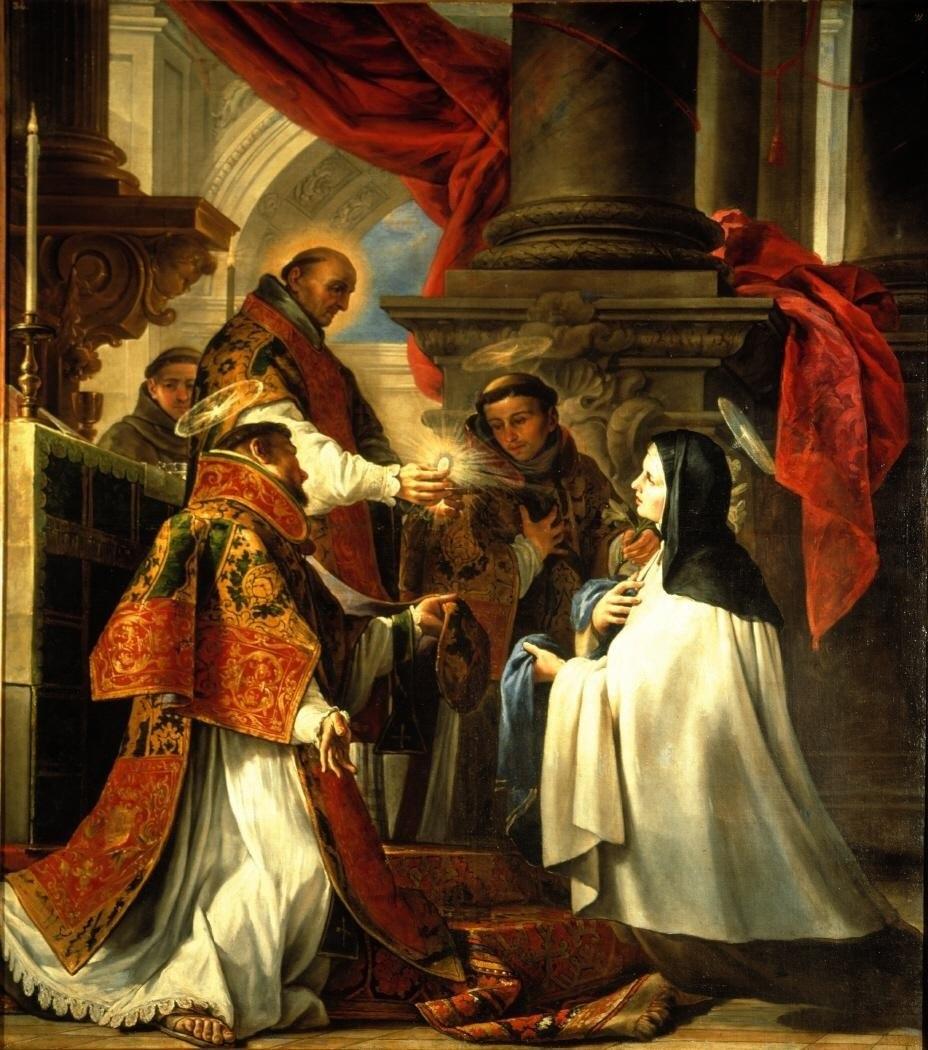 Juan Martín Cabezalero Comunión de Santa Teresa Museo Lázaro Galdiano