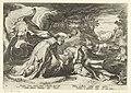 Juno verandert Callisto in een beer Ovidius' Metamorfosen (serietitel), RP-P-1882-A-6370.jpg
