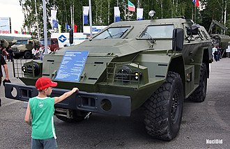 "BPM-97 - KAMAZ-43269 ""Vystrel"" (BPM-97) on Russian Expo Arms 2009 in Nizhny Tagil"