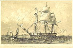 HMS Maeander (1840) - Image: KEPPEL(1853) HMS MEANDER