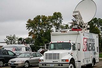Satellite truck - KSTP satellite truck in the United States