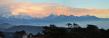 Kanchenjungha, third highest peak of west bengal.jpg