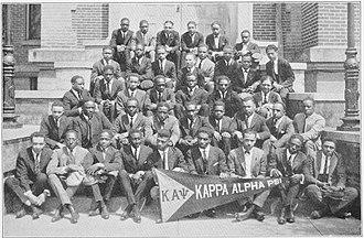 Kappa Alpha Psi - Kappa Alpha Psi chapter at Wilberforce, 1922