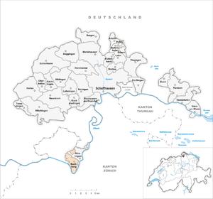 Buchberg, Schaffhausen - Image: Karte Gemeinde Buchberg 2007
