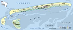 Kachelotplate - Image: Karte Insel Juist