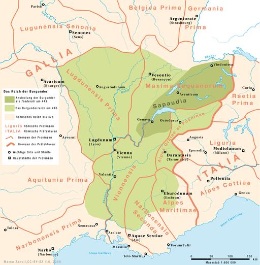 Karte Koenigreich Burgund DE