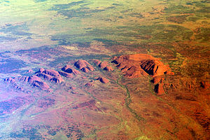 Outback - Aerial view of Kata Tjuta